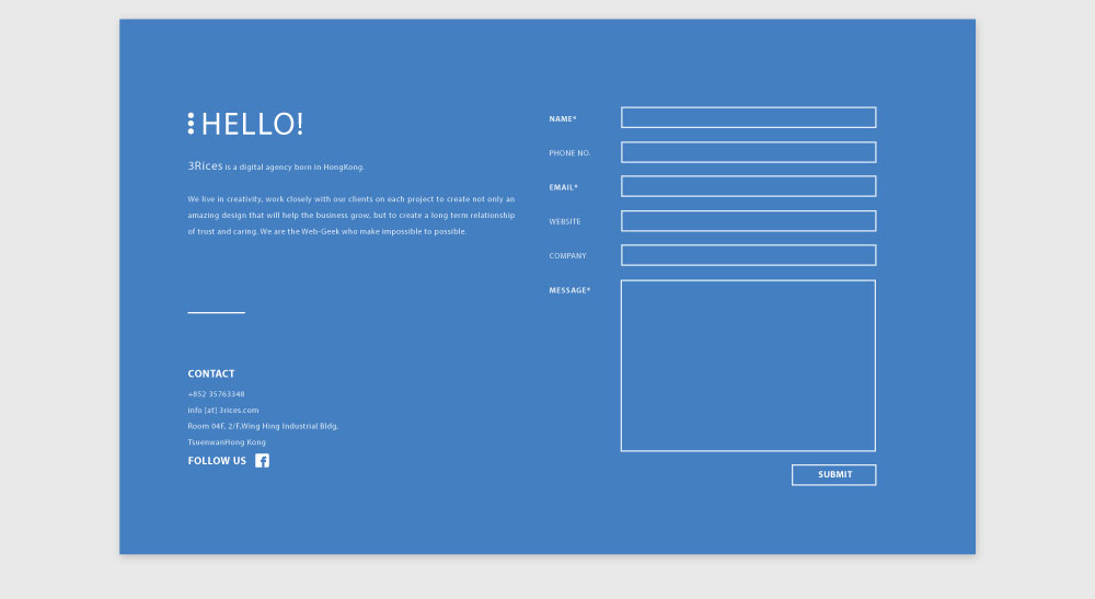 3 Rices Website 2014