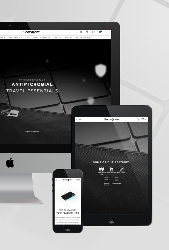 Samsonite Antimicrobial Website