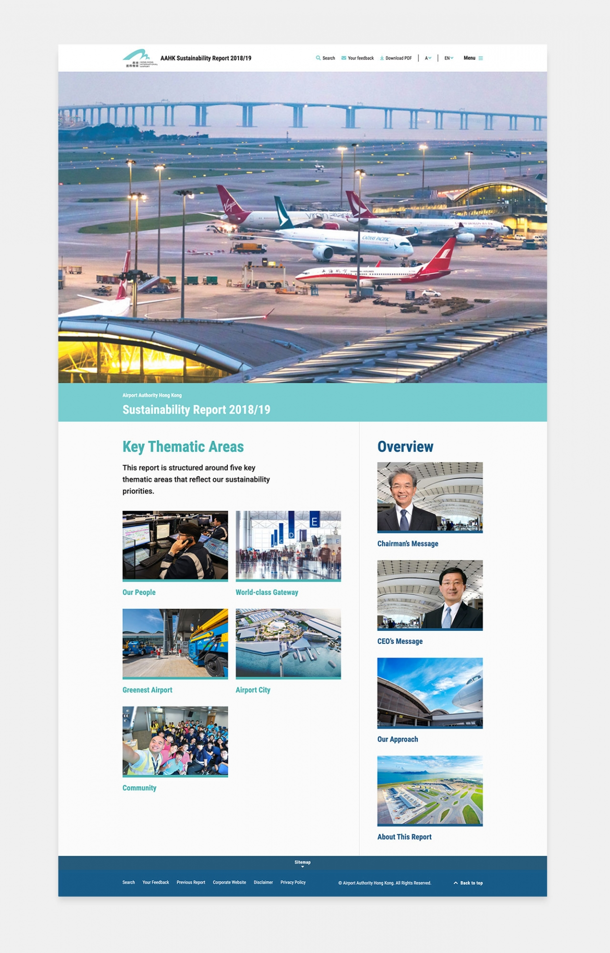 AAHK Sustainability Report 2018/19