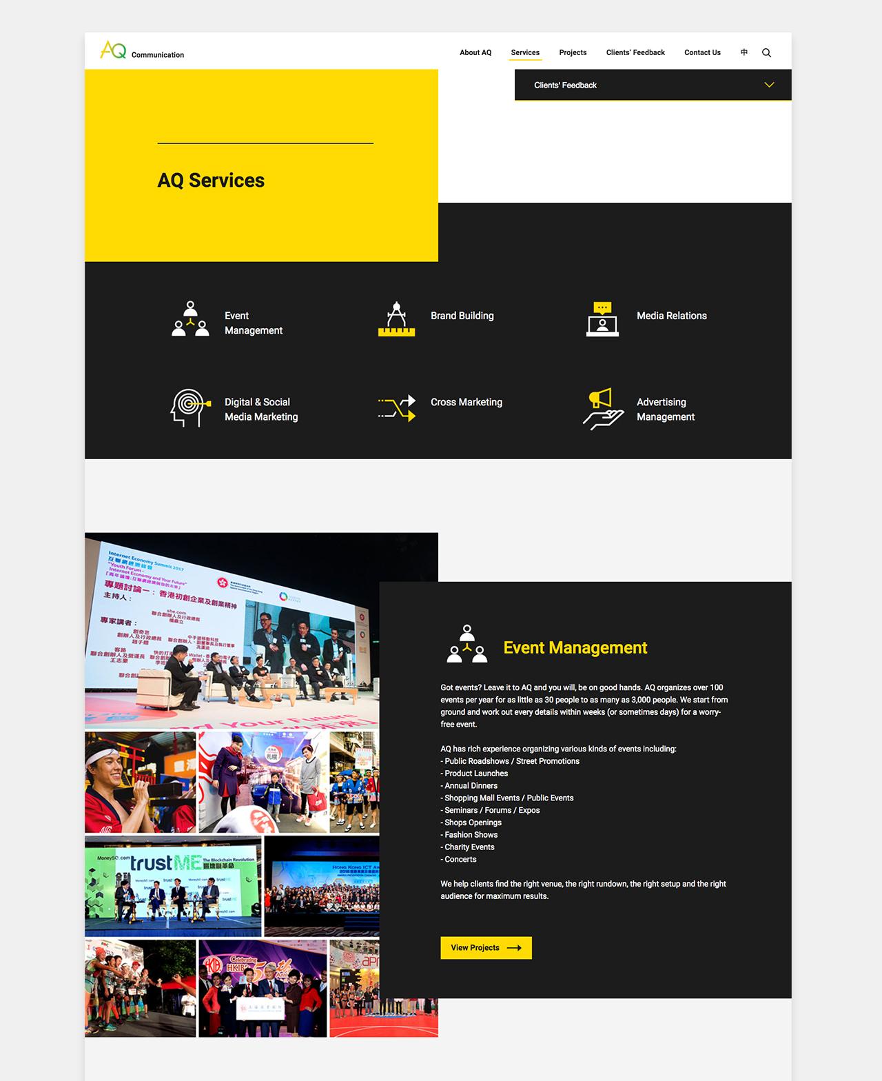 AQ Communications Website